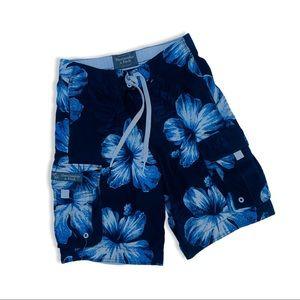 Abercrombie Blue Floral Swim Trunk Board Shorts s